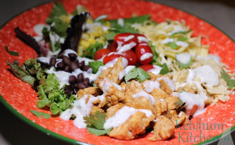 barbecue ranch chicken salad