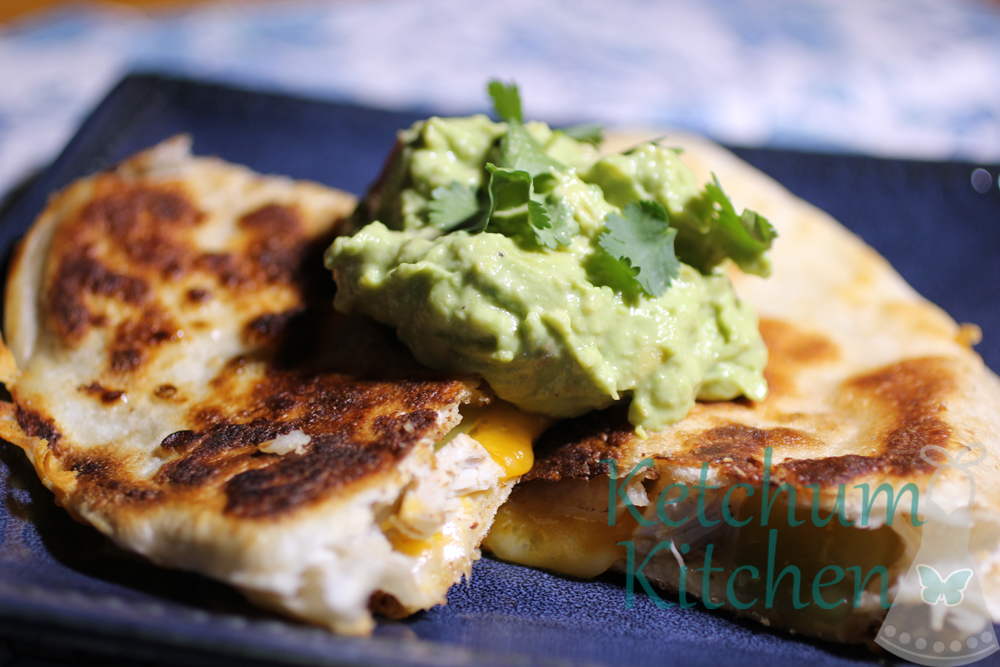 Marinated Chicken Quesadillas w/ Peppers, Onions, Pepper Jack and ...