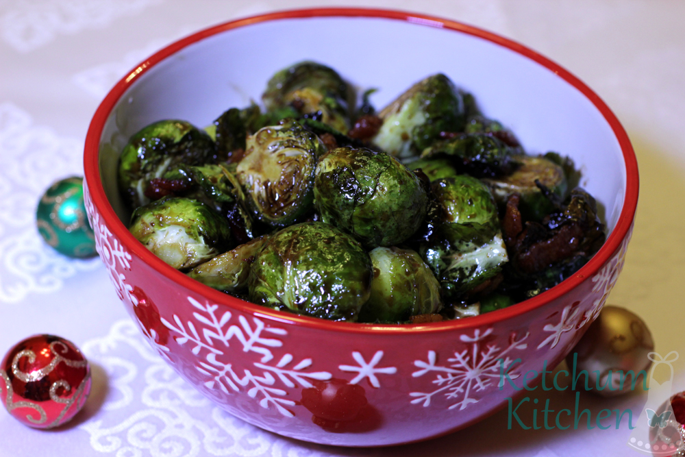 roasted brussel sprouts with balsamic reduction