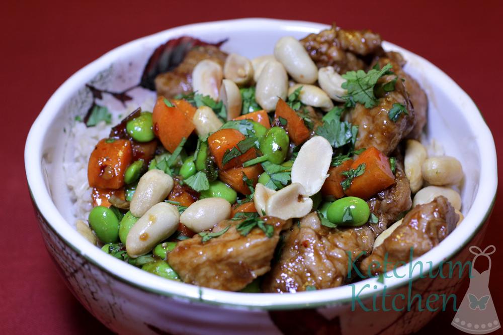 thai pork bowls